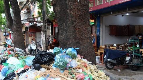 Ảnh: Đường phố Hà Nội ngập trong 'biển' rác, nhiều người dân phải di tản vì phát ốm với mùi hôi thối