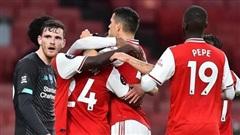 Thua Arsenal 1-2, Liverpool không phá được kỷ lục