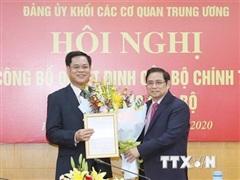 Trao quyết định điều động nhân sự tại Đảng ủy Khối các cơ quan TW
