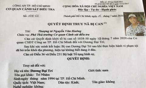 Công an TPHCM truy nã 5 đối tượng liên quan vụ 'băng áo cam'