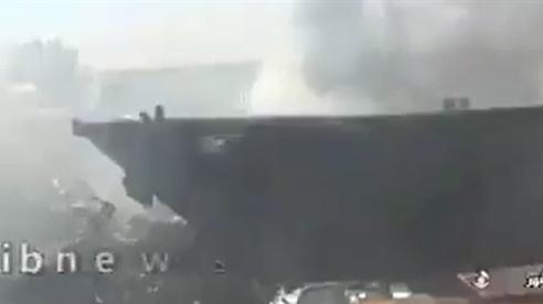 Video 7 tàu Iran bốc cháy bí ẩn tại cảng Bushehr