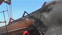 Cháy dữ dội tại cảng gần nhà máy điện hạt nhân Iran gây thiệt hại lớn