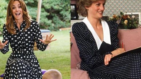 Kate Middleton diện váy chấm bi, đi giày đế xuồng khiến công chúng nhớ đến cố Công nương Diana