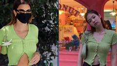Không ngờ chân dài triệu đô Kendall cũng có lúc mặc lại chiếc áo Jennie Black Pink lăng xê từ năm ngoái