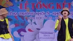 Quang Đăng gây tranh cãi khi biểu diễn phiên bản dance 'Bigcityboi' của Binz trên sân khấu lễ tổng kết năm học