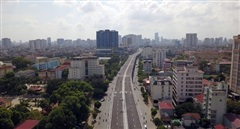 'Bay' dọc tuyến đường vành đai 2 Hà Nội trên cao trước ngày thông xe