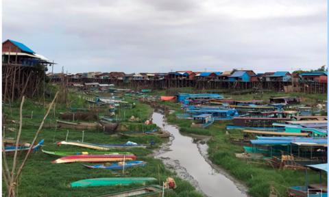 Khu vực hồ Tonle Sap cạn trơ vì các đập thuỷ điện: Ngư dân 'kêu trời'
