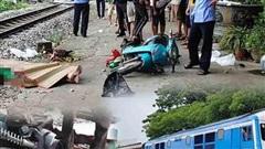 Lái xe ôm công nghệ tử vong do va chạm với tàu hỏa