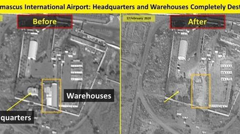 Israel lại công bố ảnh thiệt hại tại sân bay Damascus