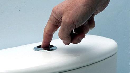 Nếu bạn vẫn có thói quen xả nước bồn cầu bằng một đầu ngón tay thì hãy dừng ngay lại
