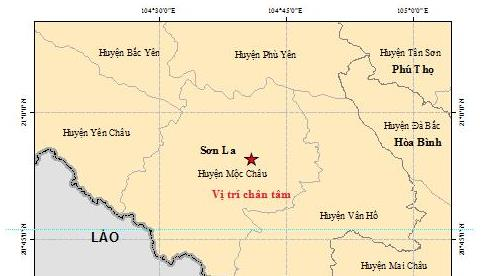 Động đất 3.0 độ ở Sơn La