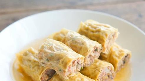Ăn lẩu thừa chút váng đậu, mang ra làm món này cả nhà thích mê