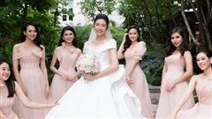 Bật mí điều chưa ai biết về 3 chiếc váy cưới lộng lẫy của Thúy Vân