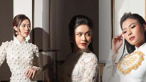 Khoảnh khắc đẹp nao lòng của Diệp Bảo Ngọc, Thúy Diễm và Trương Quỳnh Anh trong tà áo dài cưới