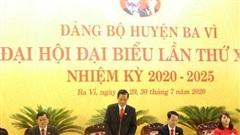 Đại hội đại biểu Đảng bộ huyện Ba Vì tiến hành phiên trù bị
