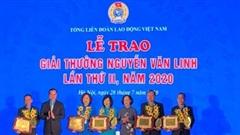 Trao Giải thưởng Nguyễn Văn Linh cho 10 cán bộ công đoàn tiêu biểu xuất sắc