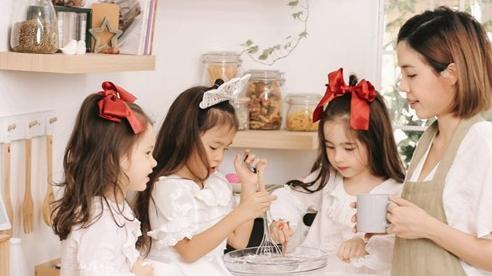 Mẹ 9x gây sốt mạng xã hội với bộ quy tắc dạy 3 cô con gái lai xinh đẹp hút mắt người nhìn