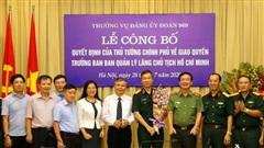 Công bố quyết định của Thủ tướng Chính phủ giao quyền Trưởng ban Ban Quản lý Lăng Chủ tịch Hồ Chí Minh