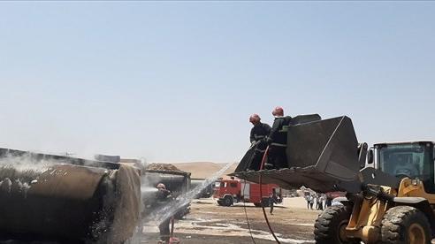Video nhiều xe tải chở dầu tại Iran bốc cháy