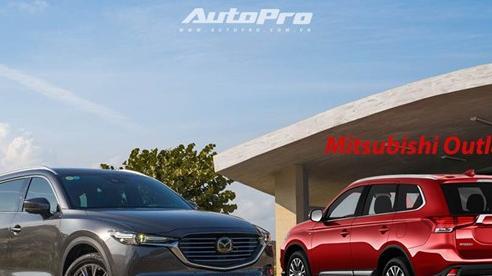 Ngang giá hơn 1 tỷ đồng, chọn Mitsubishi Outlander 2020 'full option' hay Mazda CX-8 mới giảm giá sốc