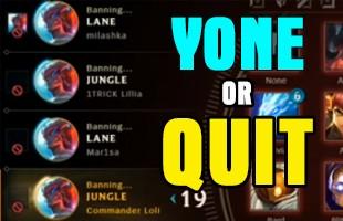 Chết cười game thủ Việt, 'cắm trại' ở server PBE... 4 tiếng đồng hồ không chơi nổi 1 ván Yone: 1 là Yone, 2 là QUIT!