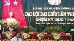 Đồng chí Lê Trung Kiên được bầu làm Bí thư Huyện ủy Đông Anh