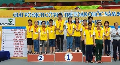 Giải cờ vua trẻ toàn quốc 2020:  TP HCM nhất toàn đoàn