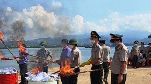Quảng Ninh tiêu hủy 100 bánh heroin tang vật vụ án