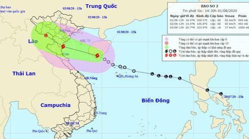 Dự báo thời tiết ngày 2/8: Bão số 2 đi vào khu vực ven biển từ Quảng Ninh đến Nghệ An
