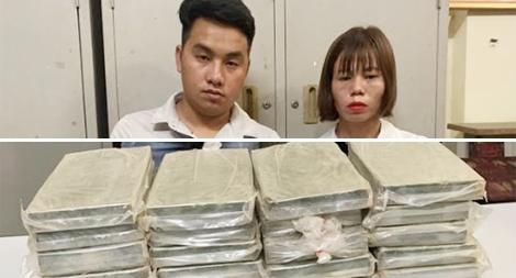 Đôi nam nữ vận chuyển 32 bánh heroin lấy 50 triệu đồng tiền công