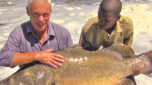 Câu được con cá rô nặng 45kg