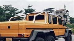 'Cực phẩm' Mercedes-Benz G63 AMG 6x6 của đại gia bí ẩn lăn bánh trên đường phố Hà Nội