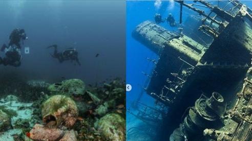 Cận cảnh bảo tàng dưới nước khách tự do bơi lội ngắm xác tàu cổ đại