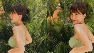 Mẫn Tiên quay lại cuộc đua bikini sau năm rưỡi vắng bóng, đường cong 3 vòng dư sức lấn át các đối thủ