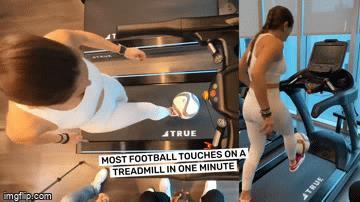 Tròn mắt xem nữ VĐV Lập kỷ lục Guiness thế giới vừa chạy bộ vừa tâng bóng