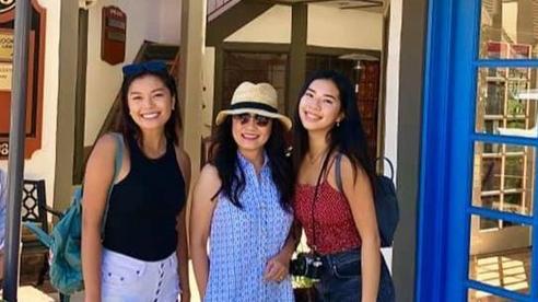 Hồng Đào khoe hai cô con gái xinh đẹp, nhan sắc và chiều cao của hai ái nữ khiến ai cũng trầm trồ