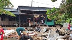 Cà Mau: Bão số 2 làm sập và tốc mái 373 căn nhà