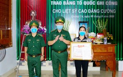 Thanh Hóa: Trao bằng Tổ quốc ghi công cho liệt sĩ hi sinh khi giúp dân chống lũ