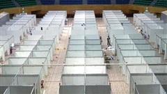 Hình ảnh bệnh viện dã chiến tại Đà Nẵng cơ bản hoàn thành sau 72h thi công 'thần tốc'