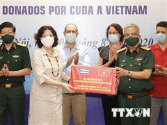 Việt Nam tiếp nhận thuốc phòng, chống dịch COVID-19 do Cuba tài trợ