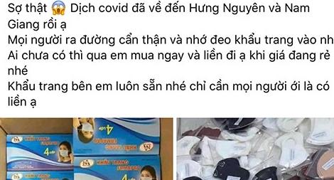 Tung tin 'COVID-19 đã về đến Nghệ An' để câu like bán hàng