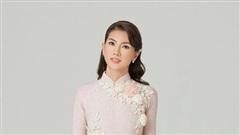 Diễn viên Anh Thư nữ tính hóa cô dâu khi diện áo dài Minh Châu