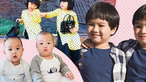 'Tan chảy' với vẻ đáng yêu của các cặp sinh đôi nhà sao Việt, ngắm xong các mẹ lại muốn 'sản xuất' thêm cho mà xem