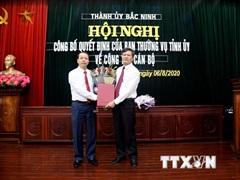 Trưởng ban Tuyên giáo Tỉnh ủy giữ chức Bí thư Thành ủy Bắc Ninh