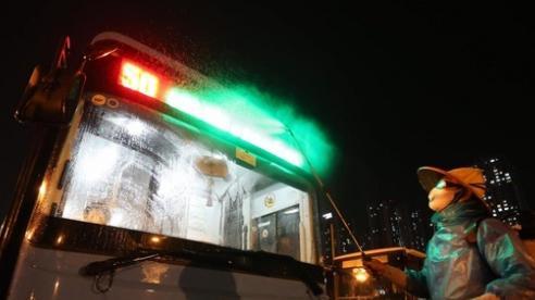 Khử khuẩn toàn bộ xe buýt Hà Nội để phòng chống dịch