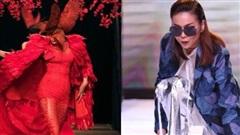 Sao Việt xử lí 'tai nạn' trên sàn catwalk: Minh Tú, Thanh Hằng thần thái, chị đại làng mẫu chảy máu chân