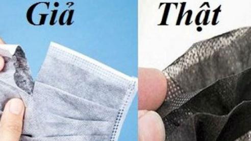 3 cách phân biệt khẩu trang y tế thật giả
