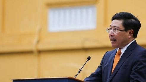 Phát biểu của Phó Thủ tướng, Bộ trưởng Ngoại giao Phạm Bình Minh tại Lễ thượng cờ ASEAN 2020