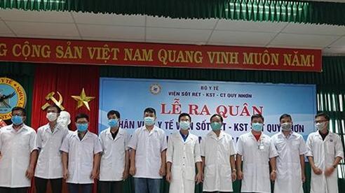 Bình Định tiếp tục cử nhân lực hỗ trợ Quảng Nam chống dịch Covid-19