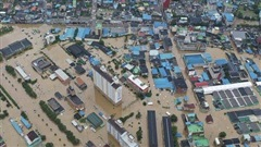 Số người thiệt mạng do mưa lũ, lở đất tại Hàn Quốc lên đến hơn 30 người
